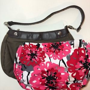 Thirty-One skirt purse Bold Bloom floral 3 hook